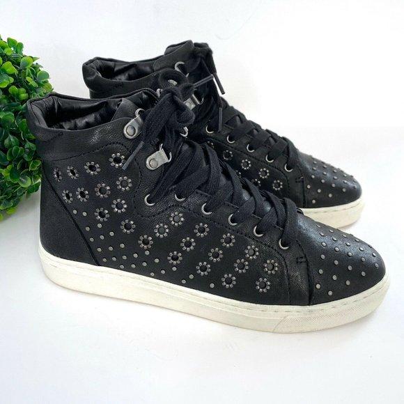 NEW Vince Camuto Bestinda Leather Stud Sneakers 8